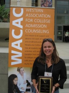 After Jessica received the WACAC Emery Walker New Admissions Counselor Award