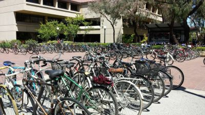 Bikes Outside Green Library
