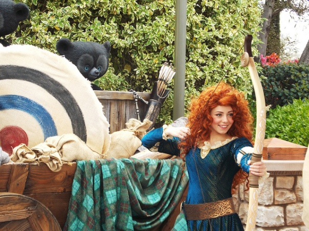 Merida and her bow by Jennie Park mydisneyadventures licensed under CC BY 2.0 Merida from Disney's Brave is an example of a strong female character. Do Something is inviting students to create a #RealPrincess for a chance to win a $4,000 scholarship.