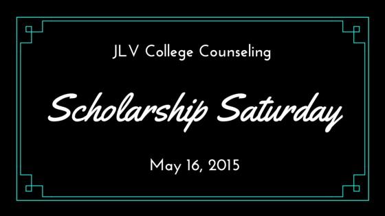 Scholarship Saturday - May 16, 2015