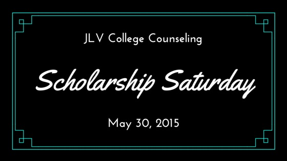 Scholarship Saturday - May 30, 2015 | JLV College Counseling Blog | 22 college scholarships and contests with upcoming deadlines.