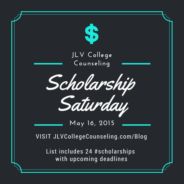 Scholarship Saturday – May 16, 2015