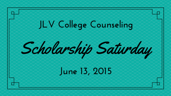 JLV College Counseling Blog | Scholarship Saturday - June 13, 2015. 23 college scholarships and contests with upcoming deadlines.
