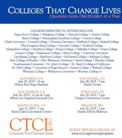 2015 College That Change Lives (CTCL) college fairs