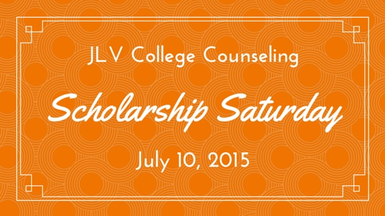 JLV College Counseling Blog | Scholarship Saturday - July 11, 2015 - 15 college scholarships and contests with upcoming deadlines.