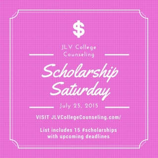 Scholarship Saturday - 15 college scholarships and contests with upcoming deadlines. | JLV College Counseling Blog