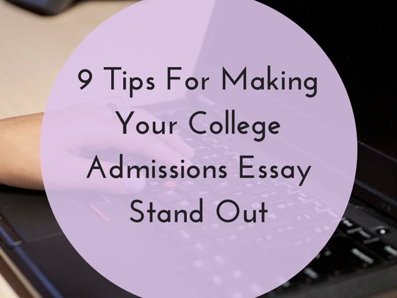 How to start off a college admissions essay