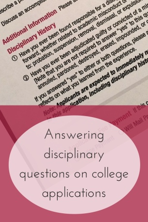 Answering disciplinary questions on college applications | JLV College Counseling Blog