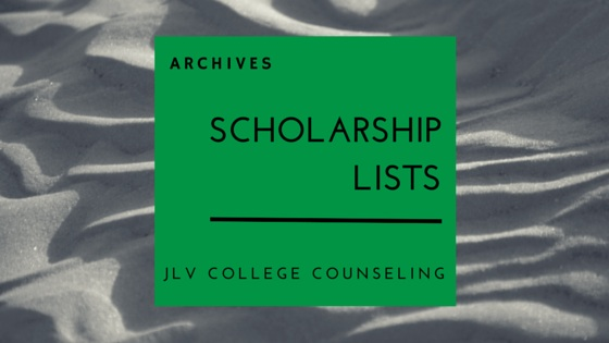 Archives of scholarsips posted on JLV College Counseling.