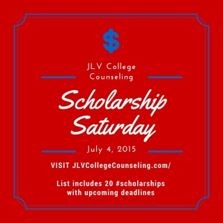 JLV College Counseling Blog | Scholarship Saturday - 20 college scholarships and contests with upcoming deadlines.