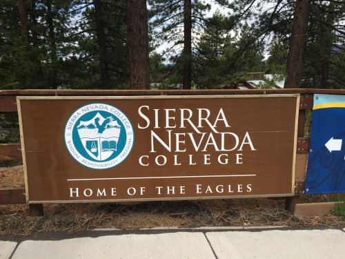 Sierra Nevada College Sign at the entrace to the campus.