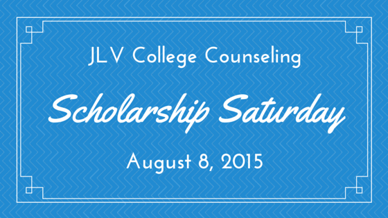 Scholarship Saturday - August 8, 2015 - 19 college scholarships and contests with upcoming deadlines. | JLV College Counseling Blog