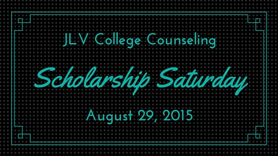 Scholarship Saturday - August 29, 2015 - 19 college scholarships and contests with upcoming deadlines. | JLV College Counseling Blog