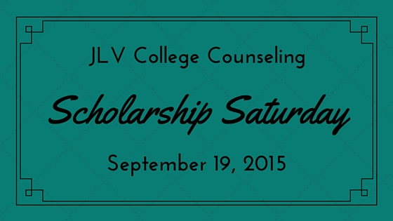 Scholarship Saturday - September 19, 2015 - 19 college scholarships and contests with upcoming deadlines. | JLV College Counseling Blog