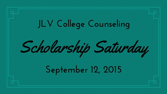 Scholarship Saturday - September 12, 2015 - 15 college scholarships and contests with upcoming deadlines | JLV College Counseling
