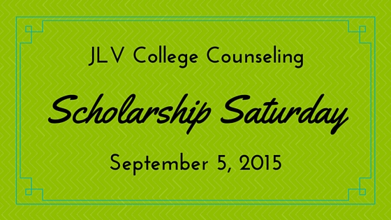 Scholarship Saturday - September 5, 2015 - 16 college scholarships and contests with upcoming deadlines. | JLV College Counseling Blog