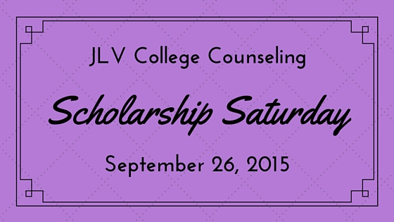 Scholarship Saturday - September 26, 2015 - 16 college scholarships and contests with upcoming deadlines | JLV College Counseling Blog