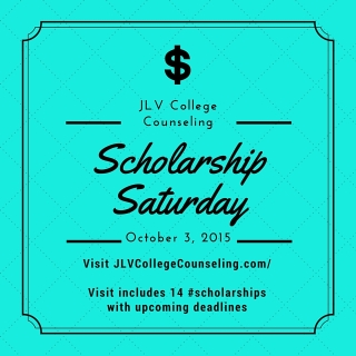 Scholarship Saturday - October 3, 2015 | 14 college scholarships and contests with upcoming deadlines
