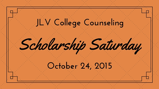 Scholarship Saturday - October 24, 2015 | 16 College Scholarships and Contests with Upcoming Deadlines | JLV College Counseling Blog