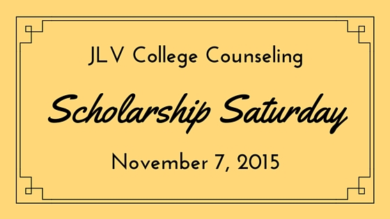 Scholarship Saturday - November 7, 2015 - 23 #college #scholarships and #contests with upcoming deadlines. | JLV College Counseling Blog