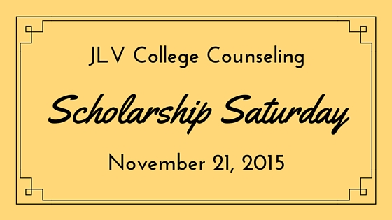 Scholarship Saturday - November 21, 2015 | 15 #college #scholarships and #contests with upcoming deadline. | JLV College Counseling Blog