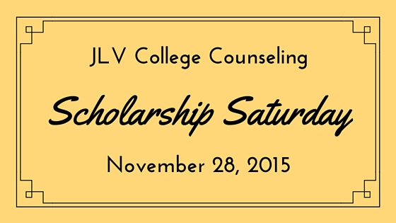Scholarship Saturday - November 28, 2015 | 19 #college #scholarships and #contests with upcoming deadlines. | JLV College Counseling Blog