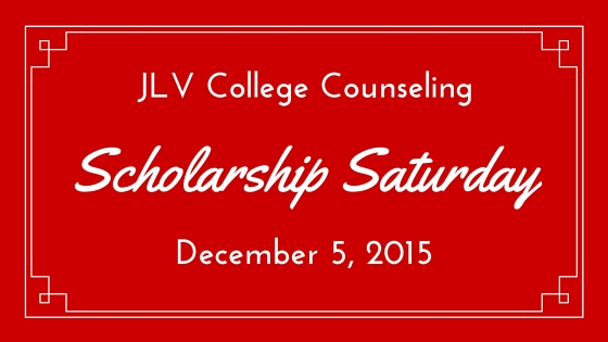 Scholarship Saturday - December 5, 2015 | 16 #college #scholarships and #contests with upcoming deadlines | JLV College Counseling Blog
