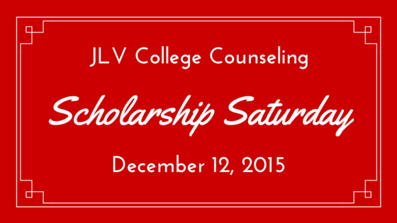 Scholarship Saturday - December 12, 2015 | 20 #college #scholarships and #contests with upcoming deadlines. | JLV College Counseling Blog