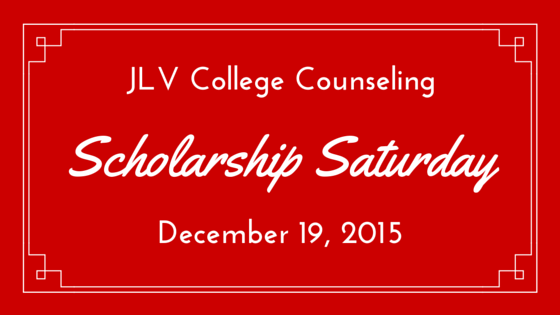Scholarship Saturday - December 19, 2015 | 19 #college #scholarships and #contests with upcoming deadlines. | JLV College Counseling Blog
