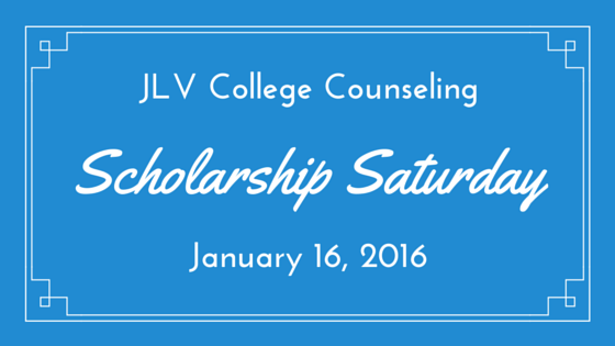 Scholarship Saturday - January 16, 2016 -| 20 #College #Scholarships and #Contests with upcoming deadlines | JLV College Counseling Blog