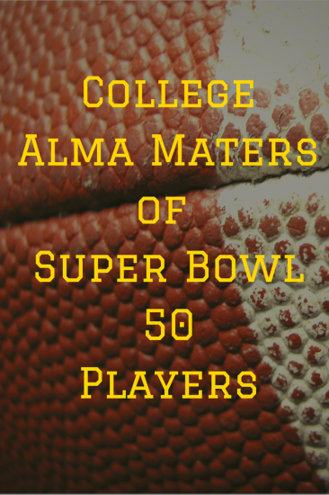 College Alma Maters of Super Bowl 50 Players | JLV College Counseling Blog