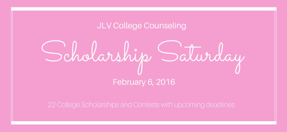 Scholarship Saturday - February 6, 2016 | 2