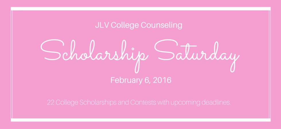 Scholarship Saturday - February 6, 2016 | 2