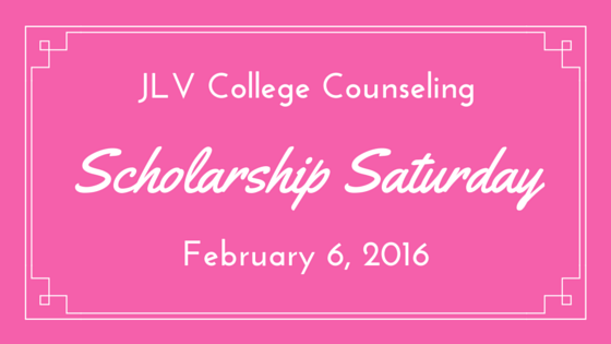 Scholarship Saturday - February 6, 2016 | 22 #College #Scholarships and #Contests with Upcoming Deadlines | JLV College Counseling Blog