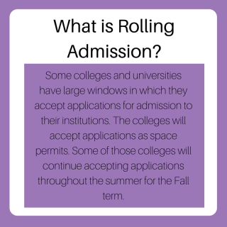 What is Rolling Admission? | JLV College Counseling Blog