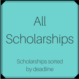 All Scholarships sorted by deadline