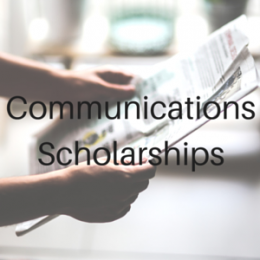 Scholarships for students studying Communications, Journalism, Broadcasting, Radio, or Public Relations.