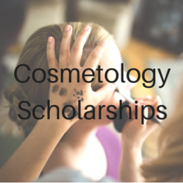 Scholarships for students studying Cosmetology.
