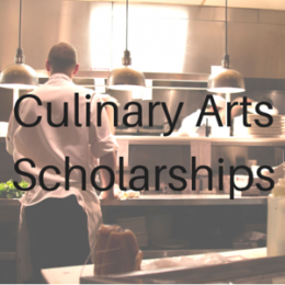 Scholarships for students studying Culinary Arts or Hospitality.