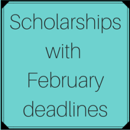 Scholarships with February deadlines