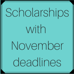 Scholarships with November deadlines