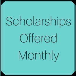 Scholarships offered monthly