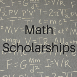 Scholarships for students studying Math.