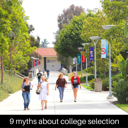 9 myths about college selection | JLV College Counseling Blog