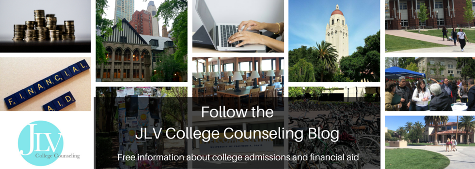 Be notified every time a new article is added to the JLV College Counseling Blog | free information about college admissions and financial aid.