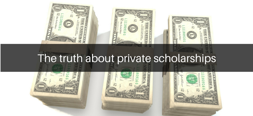 The truth about private scholarships | JLV College Counseling Blog