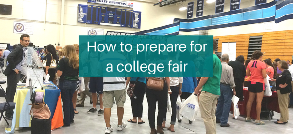How to prepare for a college fair | JLV College Counseling Blog