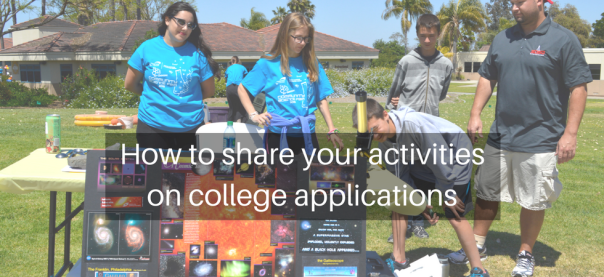 How to share your activities on college applications | JLV College Counseling Blog