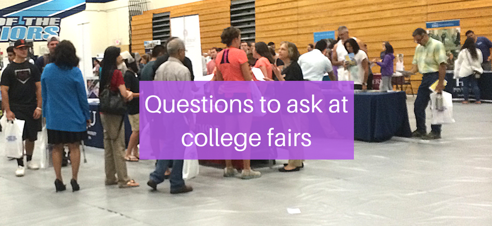 Questions to ask at college fairs | JLV College Counseling Blog