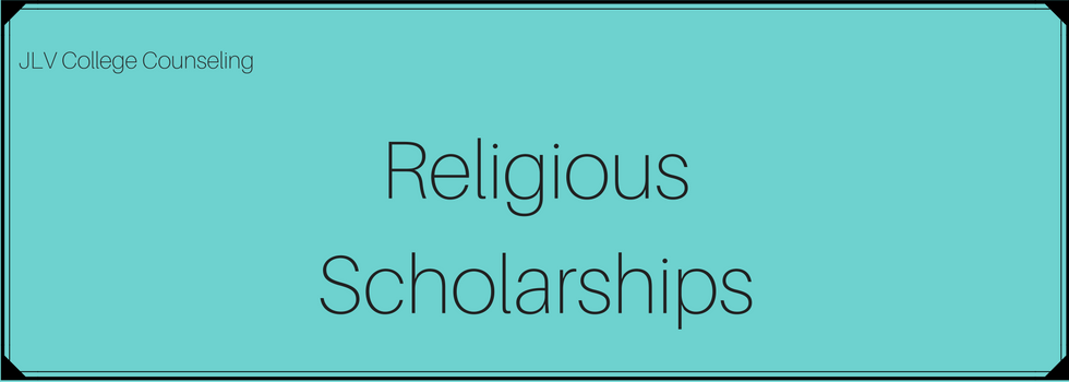 Religious Scholarships | JLV College Counseling